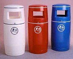 Abfallbehälter blau 90l
