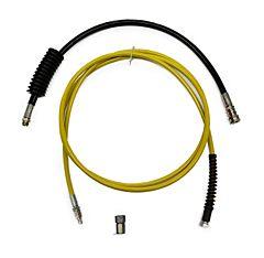 HD-Schlauch Schnellkupplung Set gelb 4M