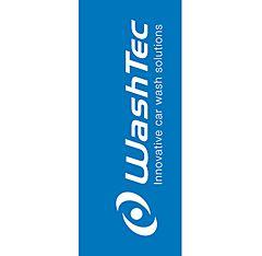 WashTec Fahne blau/weiß