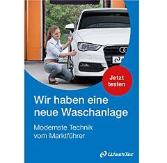 """Poster """"Neue Waschanlage"""" DIN A3"""
