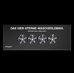 "Banner ""4 Sterne"" 3x1 Meter"