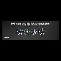 "Banner ""4 Sterne"" 4 x 1,5 Meter"