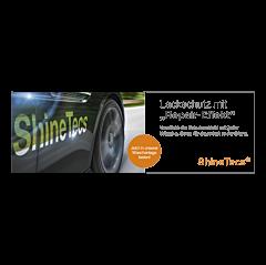 """Banner """"ShineTecs"""" 3 x 1 Meter - Weiß"""