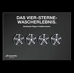 """Poster """"4 Sterne Wascherlebnis""""- A4 quer"""