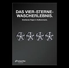 """Poster """"4 Sterne Wascherlebnis"""" - A4"""