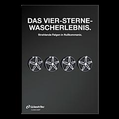 """Poster """"4 Sterne Wascherlebnis"""" - A0"""