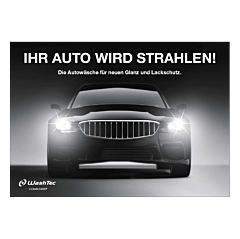 """Poster """"Ihr Auto wird strahlen"""" A4 quer"""