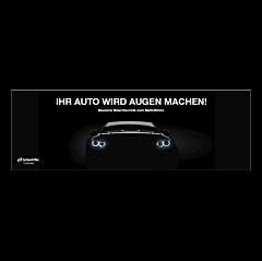 """Banner """"Ihr Auto wird Augen.."""" 4 x 1,5m"""