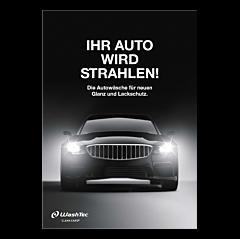 """Poster """"Ihr Auto wird strahlen""""  - A4"""