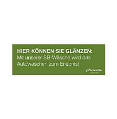 Banner für SB-Plätze 3x1 m grün