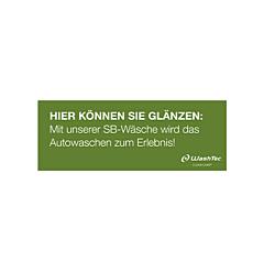 Banner für SB-Plätze 4x1,5 m grün