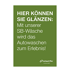 Poster für SB-Plätze A0 grün