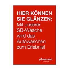 Poster für SB-Plätze A0 rot