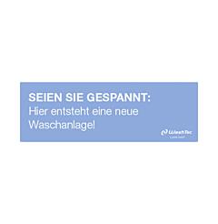 """Banner """"Neue Waschanlage"""" 3x1 m blau"""