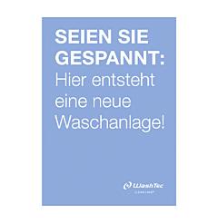 """Poster """"Neue Waschanlage"""" A0 blau"""