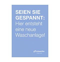 """Poster """"Neue Waschanlage"""" A1 blau"""
