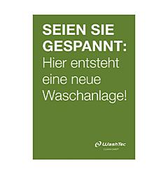 """Poster """"Neue Waschanlage"""" A0 grün"""