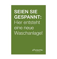 """Poster """"Neue Waschanlage"""" A2 grün"""