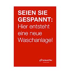 """Poster """"Neue Waschanlage"""" A0 rot"""