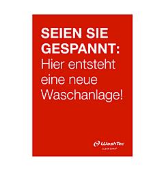 """Poster """"Neue Waschanlage"""" A1 rot"""