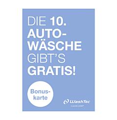10er Bonuskarte A7 blau