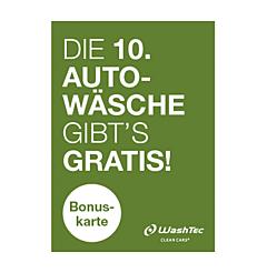 10er Bonuskarte A7 grün