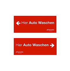 """Einfahrtsschild """"Hier Auto Waschen"""",rot"""