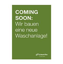 """Poster """"Neue Waschanlage"""" A1 grün"""