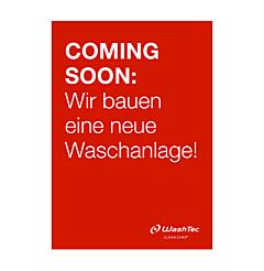 """Poster """"Neue Waschanlage"""" A2 rot"""