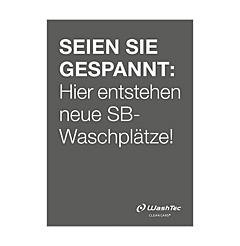 "Poster ""Neue SB-Plätze"" A2 grau"