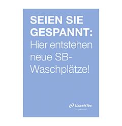 "Poster ""Neue SB-Plätze"" A2 blau"