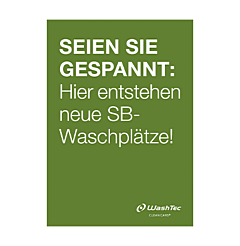 """Poster """"Neue SB-Plätze"""" A1 grün"""