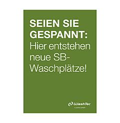 """Poster """"Neue SB-Plätze"""" A2 grün"""