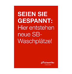 """Poster """"Neue SB-Plätze"""" A1 rot"""