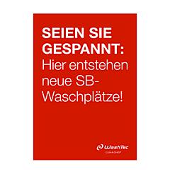 """Poster """"Neue SB-Plätze"""" A2 rot"""