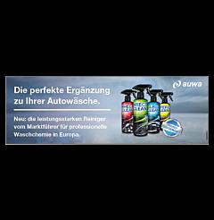 """Banner """"Endverbraucher Produkte"""" 4x1,5m"""