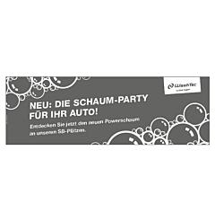 """Banner """"Powerschaum"""" 3 x 1 Meter GRAU"""