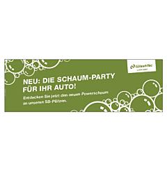 """Banner """"Powerschaum"""" 3 x 1 Meter GRÜN"""