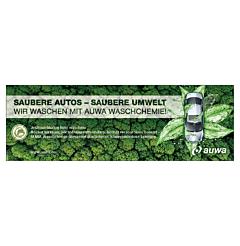 "Banner ""AUWA Green Car Care"" 3 x 1 Meter"