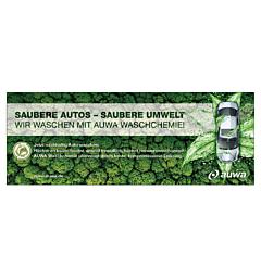 "Banner ""AUWA Green Car Care"" 4x1,5 Meter"