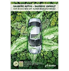 "Poster ""AUWA Green Car Care"" - A0"