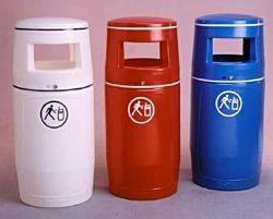 Abfallbehälter weiss 90l