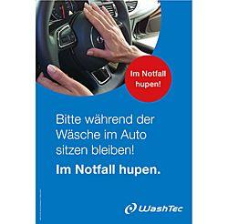 "Poster Drive-In - ""Warnhinweis"" DIN A1"