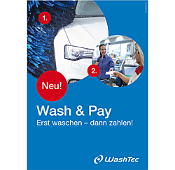 """Poster """"Wash & Pay"""" DIN A1"""
