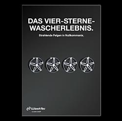 """Poster """"4 Sterne Wascherlebnis""""  - A3"""