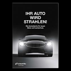 """Poster """"Ihr Auto wird strahlen"""" - A0"""